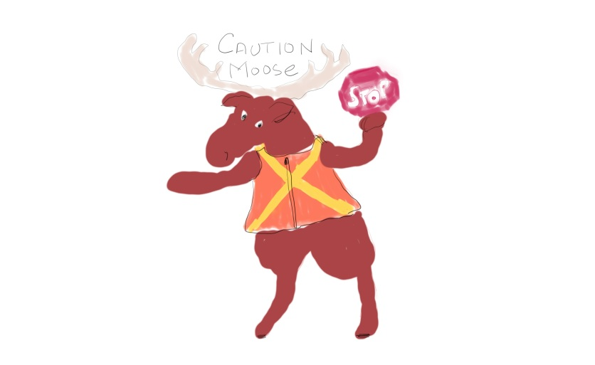 caution moose